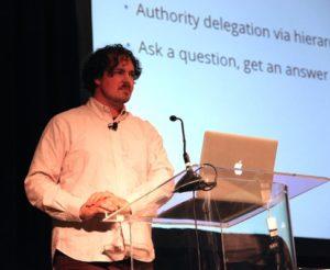 Nick Sullivan speaking